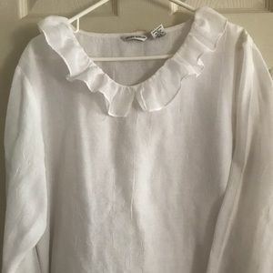 White linen formal blouse